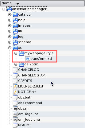 Create new folder for your custom XSL stylesheet